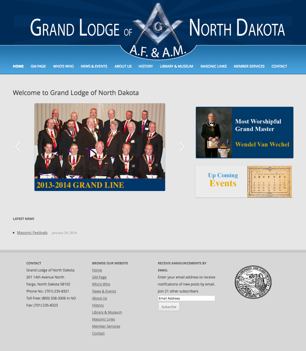 Grand Lodge of North Dakota A.F.   A.M.