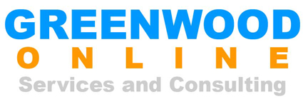GREENWOOD ONLINE – Services and Consulting – Web site design, construction, maintenance and marketing services Logo